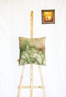 Úžitkový textil - Dekoračný jutový vankúš - Dom na samote - 11260387_