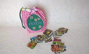 Hračky - Vrecúško na Pexeso a iné drobnosti - 11259357_