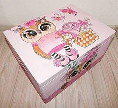 Krabičky - Ružová sovička - 11262594_
