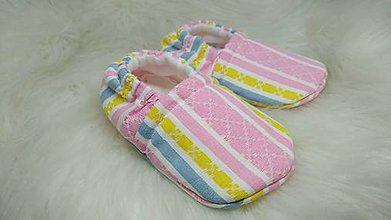 Topánočky - Upcyklované capačky novorodenecké - 11262733_