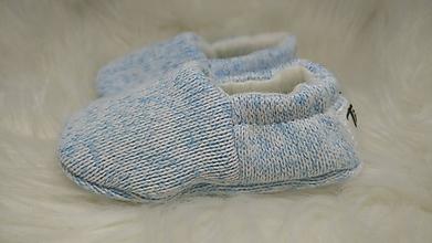 Topánočky - Capačky modré novorodenecké - 11262754_