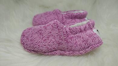 Topánočky - Capačky ružové novorodenecké - 11262755_