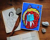 Kresby - Čítam Balzaca - 11259869_
