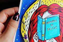 Kresby - Čítam Balzaca - 11259873_