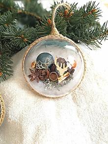 Dekorácie - Vianočné gule 4 ks sada medeno modrá - 11259896_
