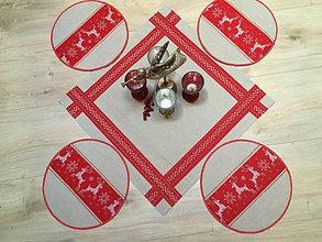 Úžitkový textil - obrus red christmas - 11260100_