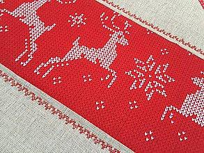 Úžitkový textil - prestierky red christmas - 11260139_