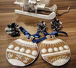 Dekorácie - sada vianočných gúľ - 11261041_