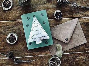 Drobnosti - Vianočná pohľadnica s prekvapením- zelená - 11262453_