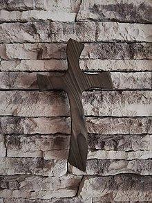 Drobnosti - Drevený kríž-pripálený - 11261025_