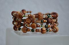 Náramky - Náramok drevené gulôčky - 11259377_