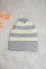Detské čiapky - .MiNi detská čiapka.pásiky - 11262095_