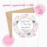 Papiernictvo - Svadobné oznámenie S44 - 11259794_