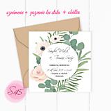Papiernictvo - Svadobné oznámenie S45 - 11259810_