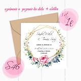 Papiernictvo - Svadobné oznámenie S46 - 11259833_