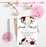 Papiernictvo - Svadobné oznámenie S50 - 11259975_