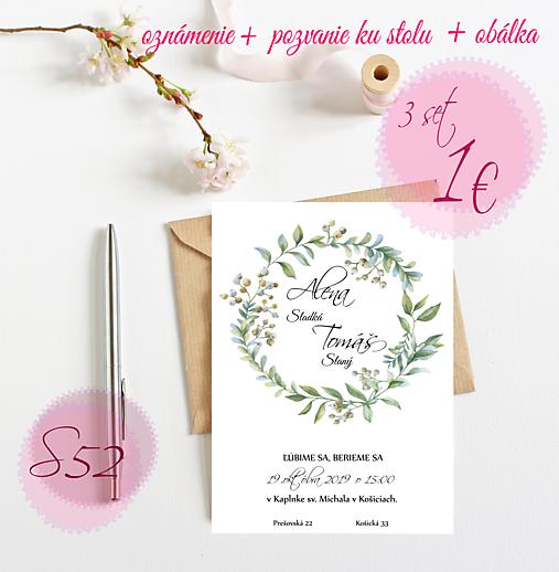 Svadobné oznámenie S52
