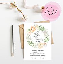 Papiernictvo - Svadobné oznámenie S31 - 11259486_