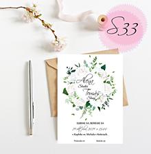 Papiernictvo - Svadobné oznámenie S33 - 11259508_
