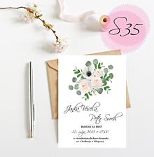 Papiernictvo - Svadobné oznámenie S35 - 11259522_