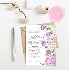 Papiernictvo - Svadobné oznámenie S41 - 11259759_