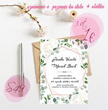 Papiernictvo - Svadobné oznámenie S49 - 11259945_