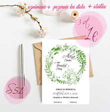 Papiernictvo - Svadobné oznámenie S51 - 11259977_