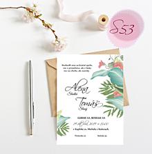 Papiernictvo - Svadobné oznámenie S53 - 11259997_