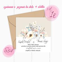 Papiernictvo - Svadobné oznámenie S54 - 11260111_