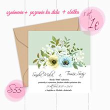 Papiernictvo - Svadobné oznámenie S55 - 11260117_