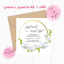 Papiernictvo - Svadobné oznámenie S59 - 11260118_