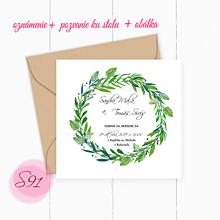 Papiernictvo - Svadobné oznámenie S90 - 11260188_