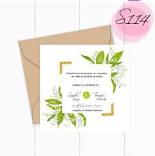 Papiernictvo - Svadobné oznámenie S114 - 11260220_