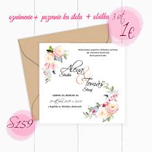 Papiernictvo - Svadobné oznámenie S159 - 11260245_