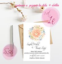 Papiernictvo - Svadobné oznámenie S56 - 11261955_