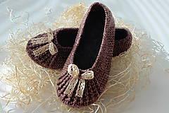 Obuv - Dámske/Dievčenské/Detské papučky/balerínky (Dámske/dievčenské papučky (č. 39) - farba tweed bordová) - 11260535_