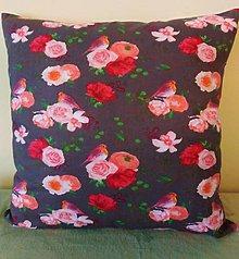 Úžitkový textil - Obliečka na malý vankúš- Ruže - 11262118_