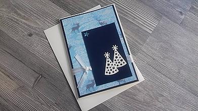 """Papiernictvo - ...pohľadnica vianočná """"V lese""""... - 11262969_"""