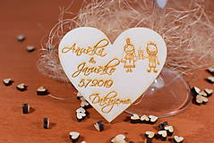 Darčeky pre svadobčanov - Drevená svadobná magnetka Ľudový motív 21 - 11259067_