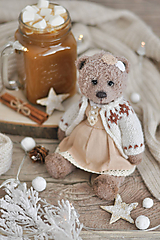 Hračky - Háčkovaný medvedík - 11260361_