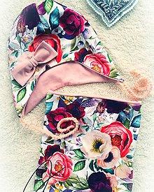Detské súpravy - Súprava dievčenská Kvety - 11265487_