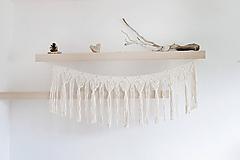 Dekorácie - Makramé girlanda - 11265096_