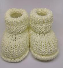 Topánočky - Pletené papučky - 11265803_