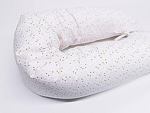 Textil - Tehotenský vankúš / Vankúš na dojčenie ružovo-horčicové vzory - 11267026_
