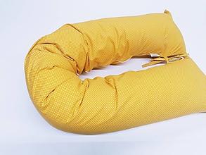 Textil - Tehotenský vankúš / Vankúš na dojčenie hočicový s bodkami - 11267069_