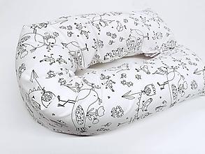 Textil - Tehotenský vankúš / Vankúš na dojčenie Birds - 11267202_