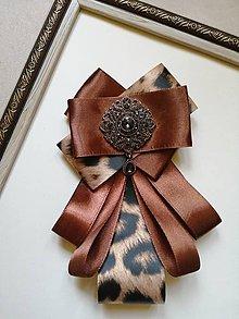 Odznaky/Brošne - Hnedý leopard - 11265481_