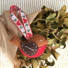 Dekorácie - Vianočná ozdoba červienka - 11265917_