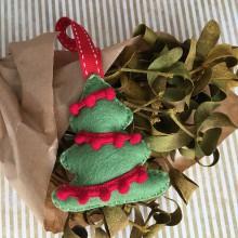 Dekorácie - Vianočná ozdoba stromček - 11265948_