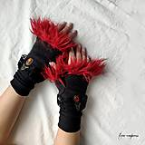Rukavice - Gotické zimné rukavičky - 11267752_